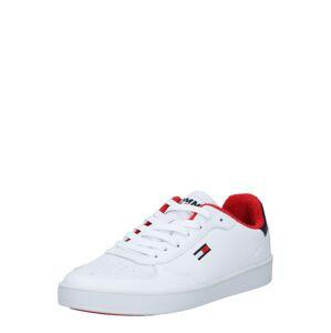 Tommy Jeans Nízke tenisky  biela / červená