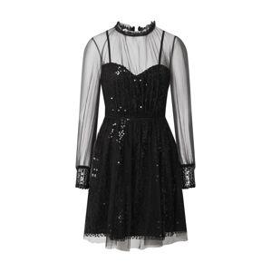 Forever Unique Kokteilové šaty  čierna