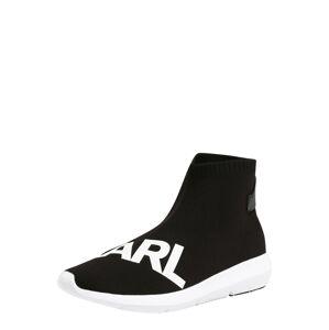 Karl Lagerfeld Slip-on obuv 'VITESSE Legere Knit Karl Prt'  čierna / biela