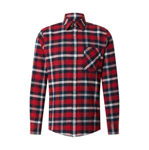 JOOP! Jeans Košeľa 'Hanson'  červená / námornícka modrá / biela