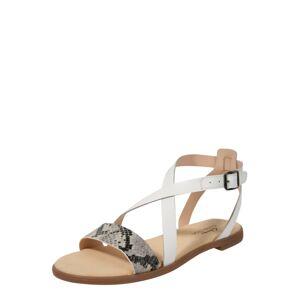 CLARKS Remienkové sandále 'Bay Rosie'  biela / sivá