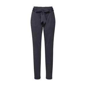 STREET ONE Plisované nohavice  čierna melírovaná