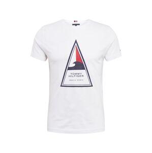 TOMMY HILFIGER Tričko 'Cool Triangle'  biela / modrá / červená