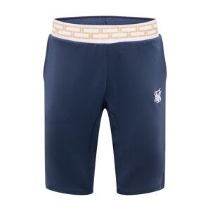 SikSilk Nohavice  námornícka modrá / biela / zlatá