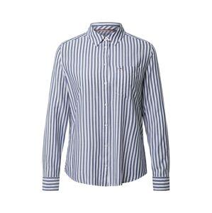 Tommy Jeans Blúzka  biela / námornícka modrá