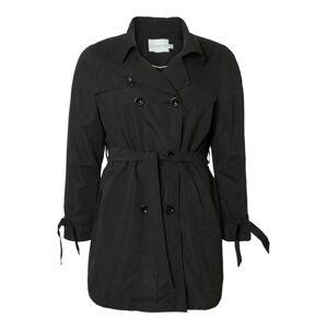 Junarose Prechodný kabát  čierna