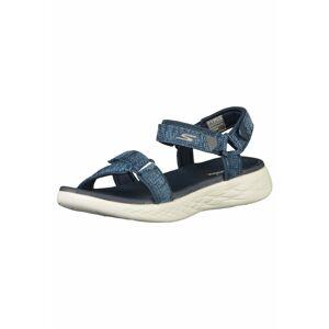 SKECHERS Trekingové sandále  modrá melírovaná