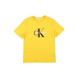 Calvin Klein Jeans Tričko  biela / žltá / čierna
