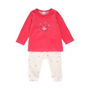SANETTA Pyžamo  šedobiela / ružová