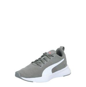 PUMA Športová obuv 'FLYER RUNNER'  biela / sivá