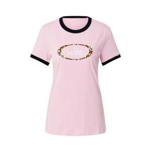 Nike Sportswear Tričko  rosé / čierna / zmiešané farby