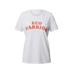 ARMEDANGELS Tričko 'MARAA ECO WARRIOR'  biela / oranžová