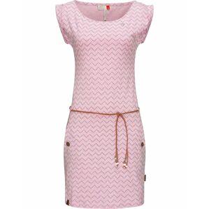 Ragwear Letné šaty 'Tag Zig Zag'  pastelovo ružová / svetlofialová / karamelová