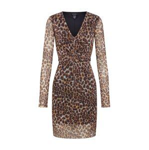 NEW LOOK Šaty 'GO ANIMAL'  hnedá / čierna