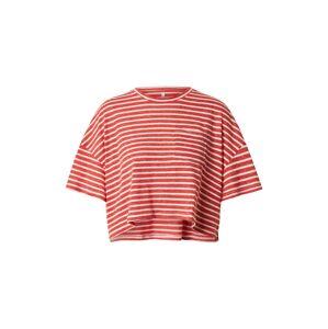 ONLY Tričko 'ONLCLOE'  červená / šedobiela