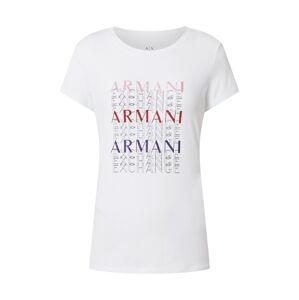 ARMANI EXCHANGE Tričko '6Hytam'  biela / zmiešané farby