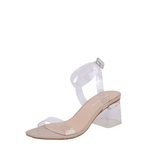 Public Desire Remienkové sandále 'AFTERNOON'  priehľadná / telová