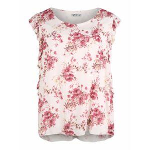 Z-One Top 'Leonie'  biela / ružová