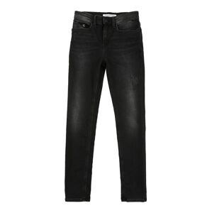 Calvin Klein Jeans Džínsy 'SKINNY HR - ATHLETIC BLCK DS STR'  čierny denim