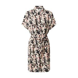 VERO MODA Košeľové šaty 'Simply Easy'  čierna / ružová / biela