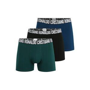 CR7 - Cristiano Ronaldo Boxerky  čierna / zelená / nebesky modrá