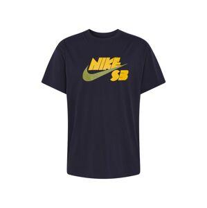 Nike SB Tričko  čierna / žltá / zelená