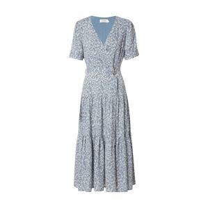 Louche Letné šaty 'EMIN FLAX'  svetlomodrá / trávovo zelená / biela
