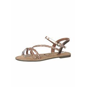 TAMARIS Remienkové sandále  rosé / zlatá