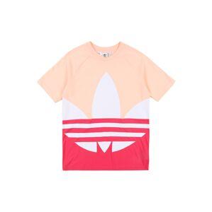 ADIDAS ORIGINALS Tričko 'Big Trefoil'  pastelovo ružová / ružová / biela