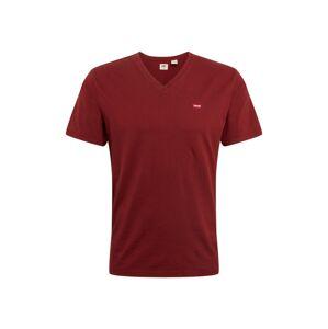 LEVI'S Tričko 'ORIGHM'  vínovo červená