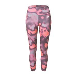ADIDAS PERFORMANCE Športové nohavice  ružová / červená / tmavofialová
