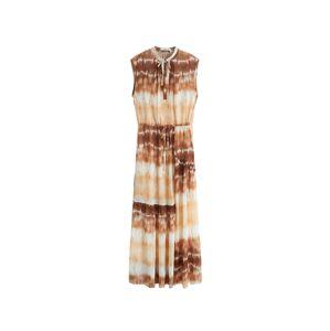 MANGO Letné šaty 'Tayito'  biela / hnedá