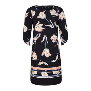 COMMA Šaty  ružová / čierna