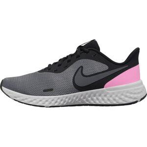 NIKE Bežecká obuv 'Revolution 5'  sivá melírovaná / ružová / antracitová