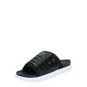 Nike Sportswear Šľapky  čierna / biela