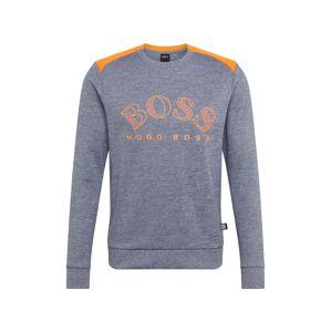 BOSS ATHLEISURE Tričko 'Salbo'  oranžová / námornícka modrá