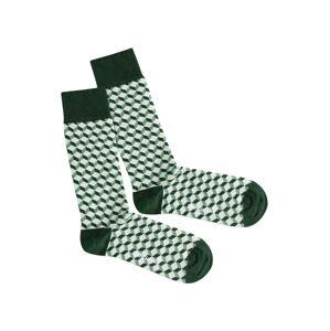 DillySocks Ponožky 'Botanic Dice'  zelená / biela