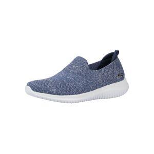 SKECHERS Slip-on obuv  modrá melírovaná / biela