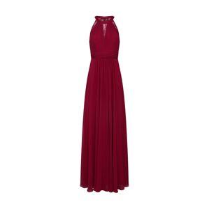 mascara Večerné šaty 'LACE INSET'  vínovo červená