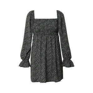 Missguided Letné šaty 'DITSY'  čierna / biela