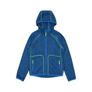 ICEPEAK Športová mikina so zipsom 'LOUIN'  modrá / tmavomodrá / neónovo zelená