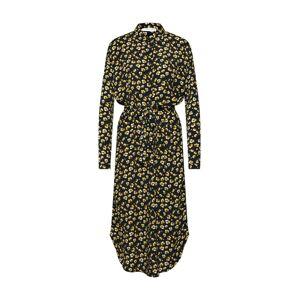 MOSS COPENHAGEN Košeľové šaty 'Amber Genni'  čierna / žltá