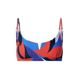 Seafolly Bikinový top  svetlomodrá / námornícka modrá / tmavomodrá / červená / biela